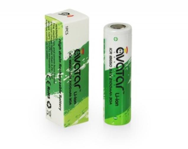 Avatar Green 18650 2100mAh Battery