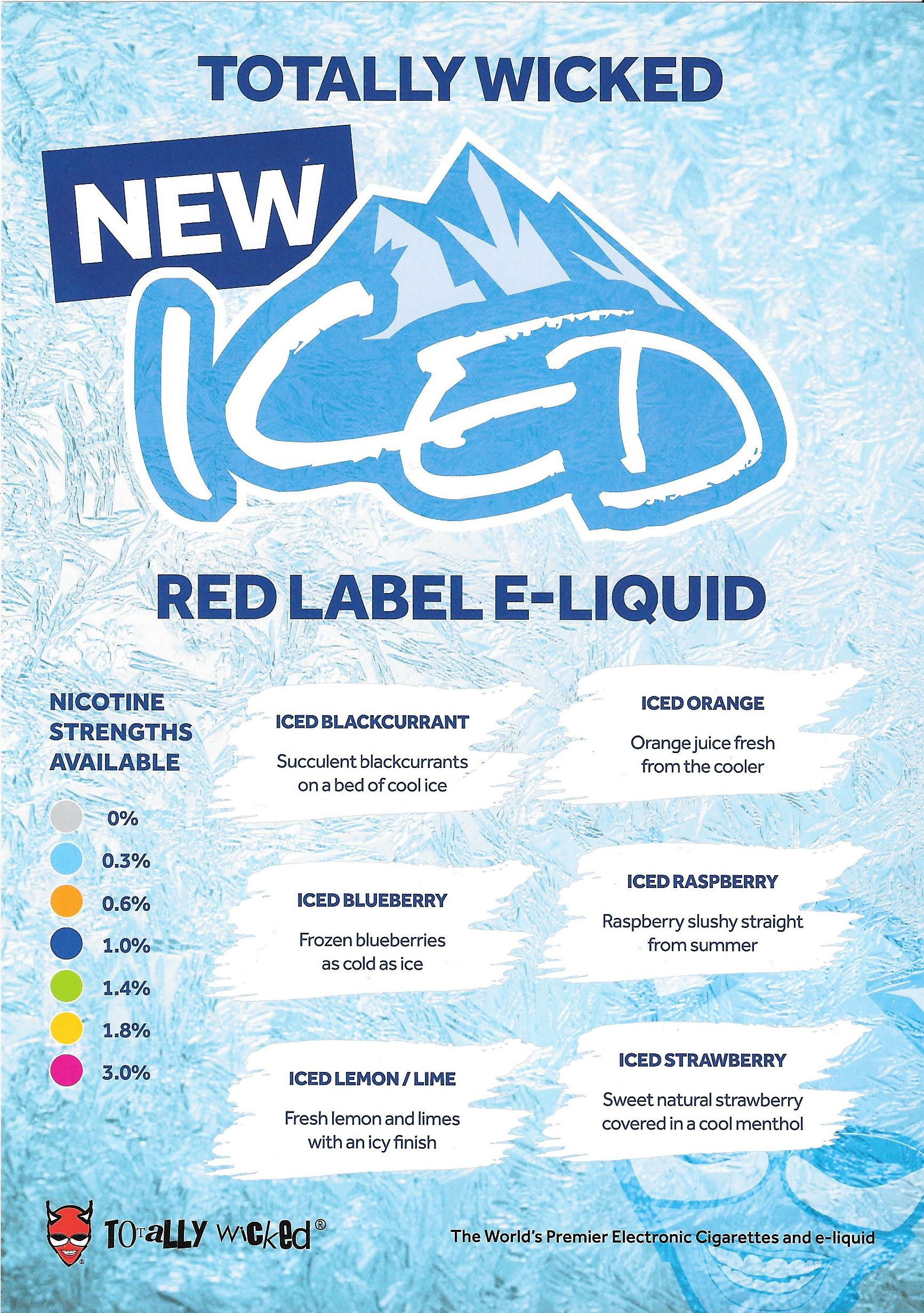 Totally Wicked Red Label Iced Range