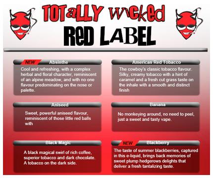 Red Label e-liquid